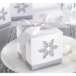 Laser-Cut Snowflake Favor Box