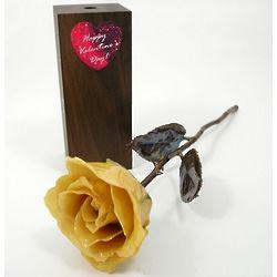 "11"" Valentine's Day Preserved Copper Stem Rose and Vase"