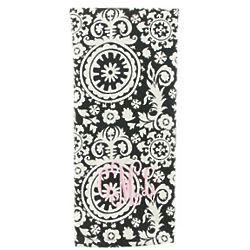 Personalized Black Flourish Kitchen Towel