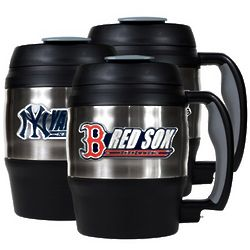 MLB Mini Keg with Built-In Bottle Opener