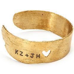 Personalized Love Birch Cuff Bracelet