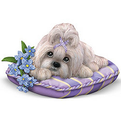 Love Never Forgets Shih Tzu Alzheimer's Support Figurine