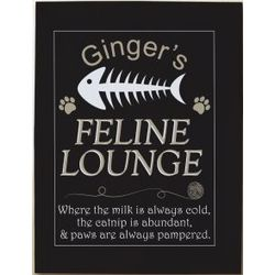 Personalized Feline Lounge Wall Canvas