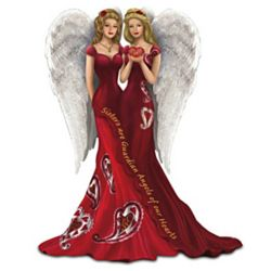 Thomas Kinkade Sisters Are Guardian Angels of Our Heart Figurine
