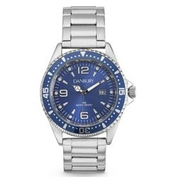 Blue Men's Diver Wrist Watch