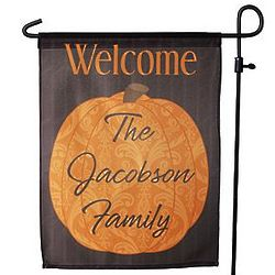 Personalized Pumpkin Patch Garden Flag with Stake