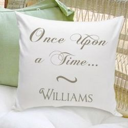 Personalized Once Upon a Time Couples Throw Pillow