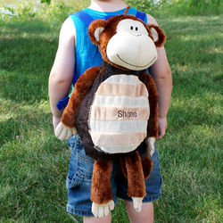Personalized Embroidered Silly Monkey Backpack