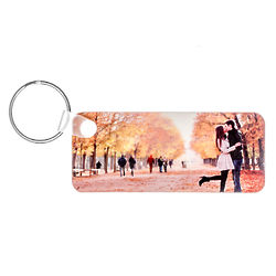 Long Rectangle Custom Photo Keychain