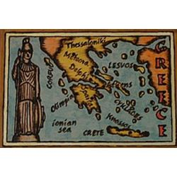 Greece Map Leather Photo Album