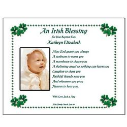 Irish Blessing Personalized Poem for Baptism