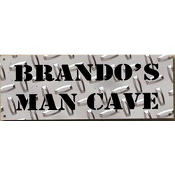 Personalized Diamond Plate Man Cave Sign