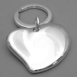 Free Form Heart Key Ring