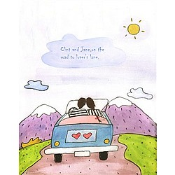 Traveling on Lover's Lane Personalized Print