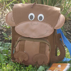Personalized Monkey Lunch Bag