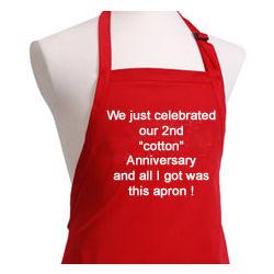 2nd Anniversary BBQ Apron