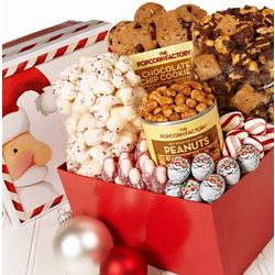 Peek-A-Boo Santa Treat Sampler Gift Box