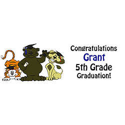 Kid's Personalized Graduation Banner