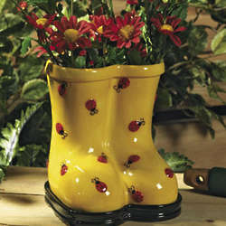 Ladybug Boots Planter