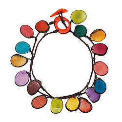 Multicolor Double Tagua Necklace