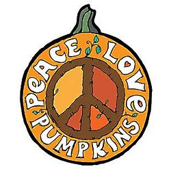 Peace, Love, Pumpkins Car Magnet