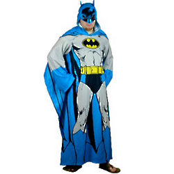 Batman Blanket with Sleeves and Hood