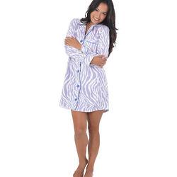 Snuggle Fleece Lavender Zebra Sleepshirt