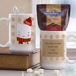 Personalized Oversized Mug and Hot Cocoa