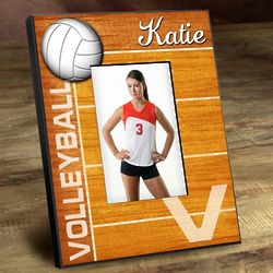 Kid's Personalized Volleyball Picture Frame