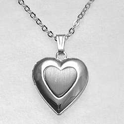 Personalized Pewter Heart Mini Locket
