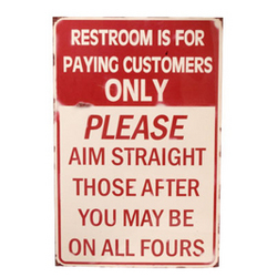 All Fours Bathroom Sign