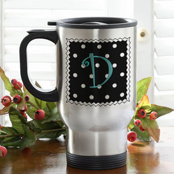 Dot to Dot Personalized Travel Mug