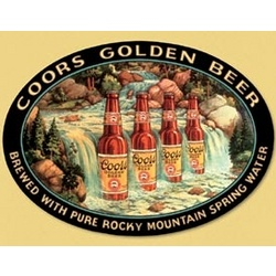 Coors Waterfall Tin Sign