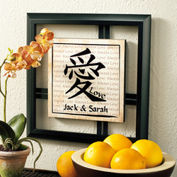 Personalized Chinese Love Symbol Framed Art