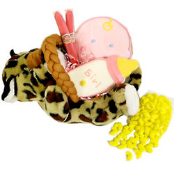 Baby Tiger Plush Gift Basket
