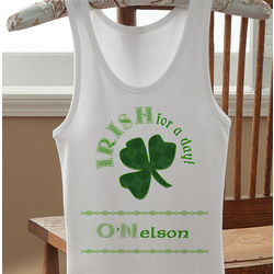 Personalized Irish for a Day St. Patrick's Day Girl's Tank Top