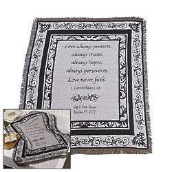 Black and White Wedding Throw