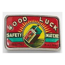Good Luck Safety Matches Belt Buckle