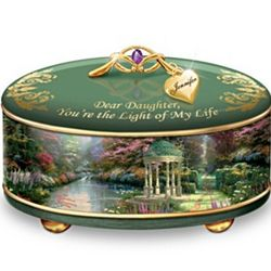 Thomas Kinkade Personalized Music Box for Daughters