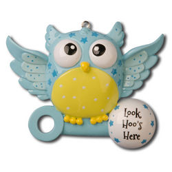 Personalized Look Hoo's Here Ornament