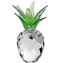 Small Crystal Pineapple with Green Leaves