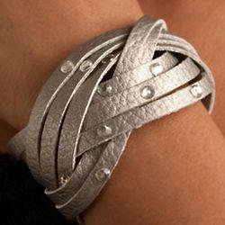Pretty n Punk Leatherette Snap Bracelet