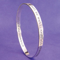 All Shall Be Well Silver Bangle Bracelet