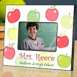 Personalized Dancing Apples Teacher Picture Frame
