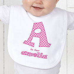 Alphabet Name Infant Bib