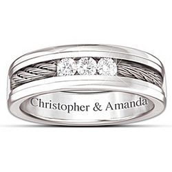 Strength of Our Love Personalized Diamond Men's Ring