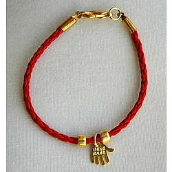 Kids Leather Hamsa Bracelet