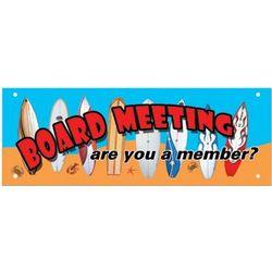 Board Meeting Hardboard Sign