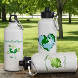 Go Green! Personalized Water Bottle