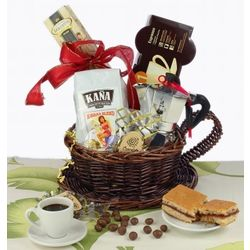 My Cuban Cafecito Gift Basket with Cuban Espresso Coffee Maker - FindGift.com